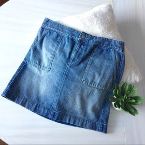 Ann Taylor Loft denim mini skirt
